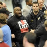Shocking! Did Donald Trump's Goons Rough Up Black Lives Matter Protester?