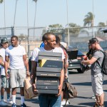 Trinidad James AND Big U collect thousands of donated shoes in sneaker drive for Crenshaw community