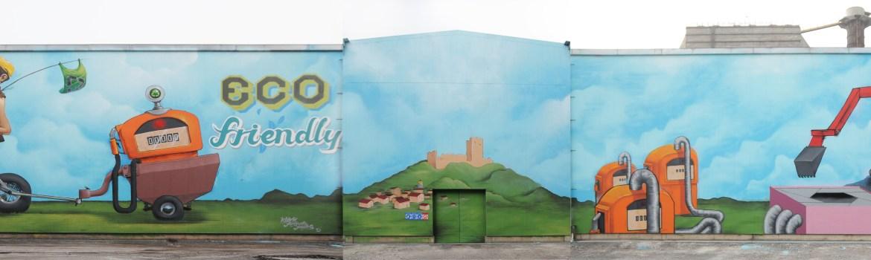 Graffiti στο εργοστάσιο της ΑΓΕΤ Ηρακλής