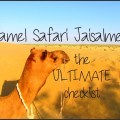 camel safari jaisalmer the ultimate checklist