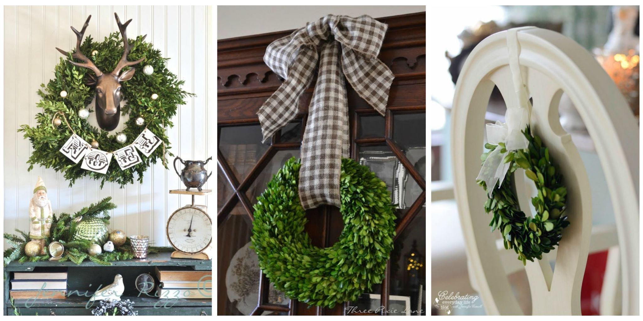11 Boxwood Wreath Decorating Ideas for the Holidays Christmas just got a whole lot more festive  Plus  check out our favorite  DIY Christmas wreaths