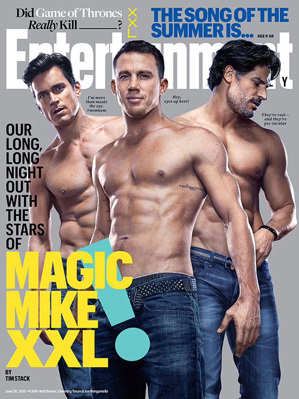 Here s the  Magic Mike XXL  Cast Talking About Each Other s Boners image