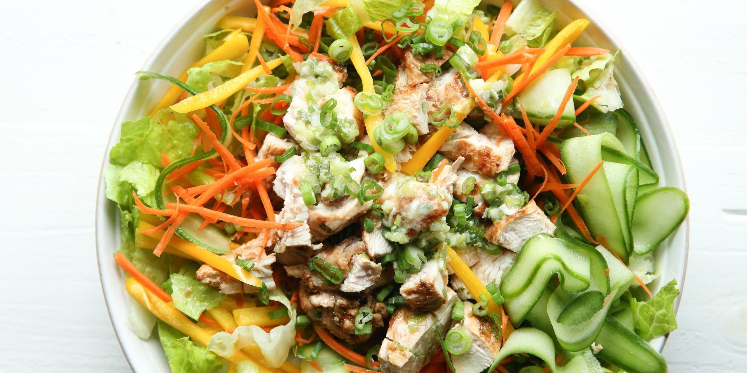 Best Asian Chicken Salad Recipe—How To Make Asian Chicken Salad—Delish.com