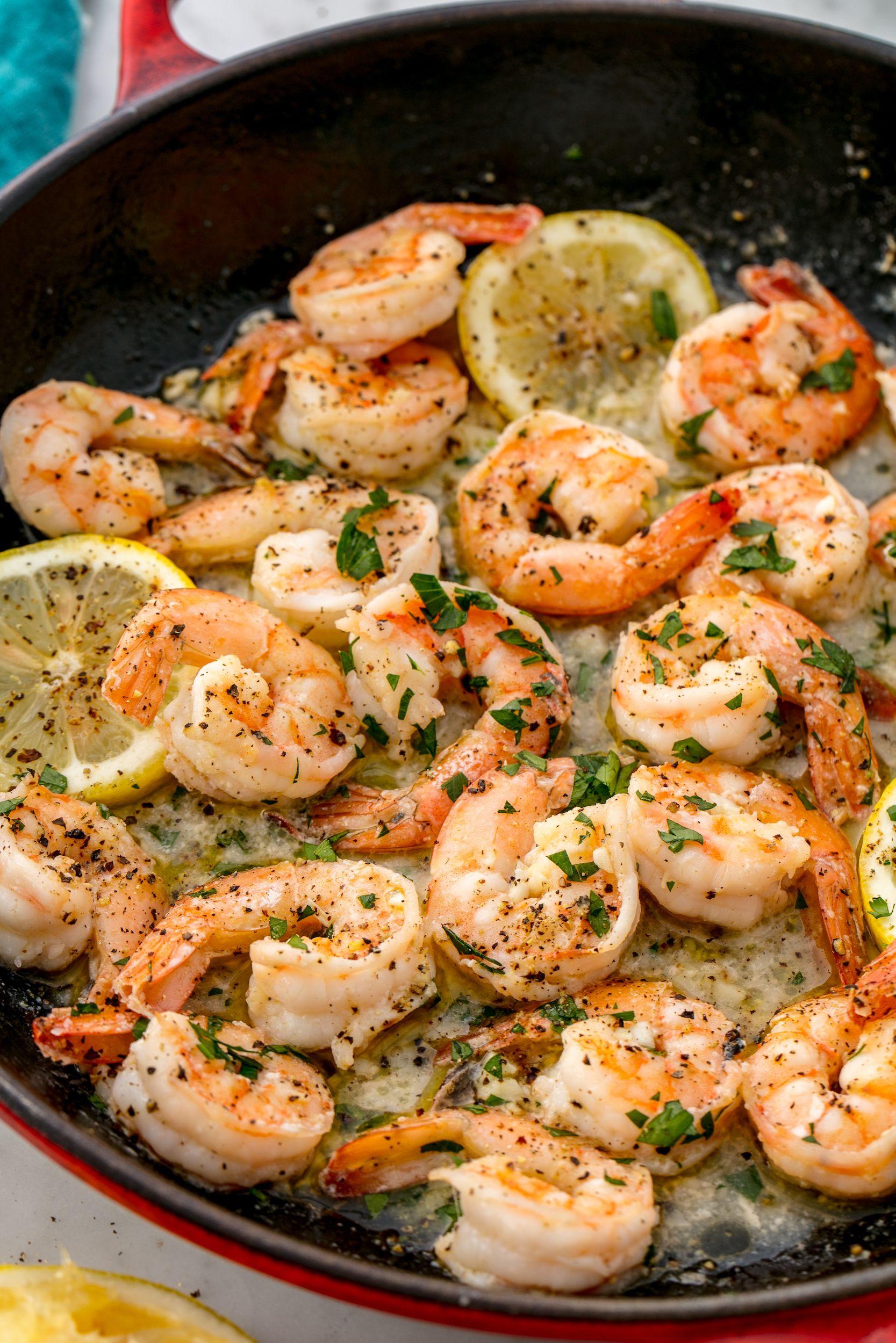 Seemly 1506010449 Lemon Garlic Shrimp Delish 1 How To Saute Shrimp Scallops Spinach How To Saute Shrimp nice food How To Saute Shrimp