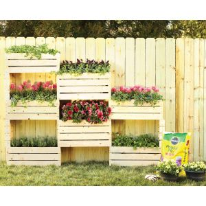 Radiant Vertical Planter Diy Home Depot Garden Project Home Depot Vegetable Garden Box
