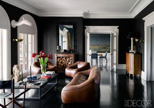 Medium Of Black Furniture For Living Room