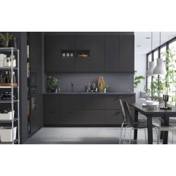 Small Crop Of Black Kitchen Cabinets