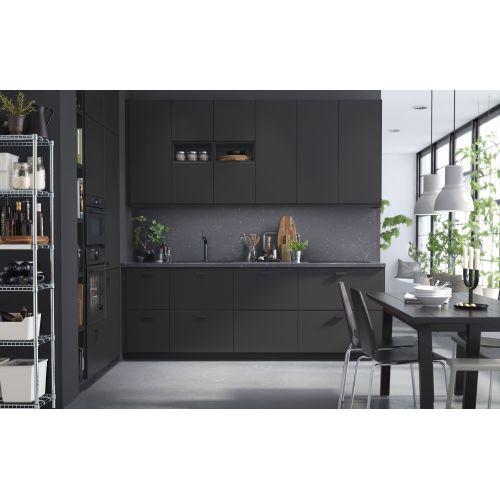 Medium Crop Of Black Kitchen Cabinets
