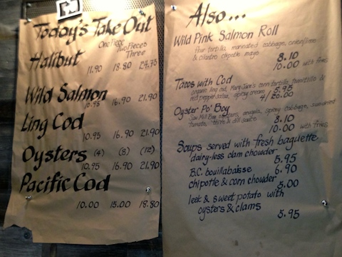 Fish Counter's all sustainable menu includes fish 'n chips