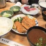 銀座・三州屋で夜のアジフライ定食