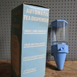 blue plastic tea dispenser