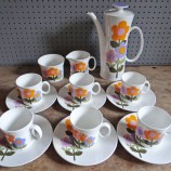 Vintage Hostess Tableware Dolly Days coffee set designed by John Russell