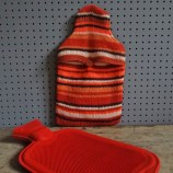 orange stripe hot water bottle & cover