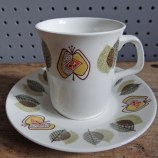 J & G Meakin Applewood cup and saucer