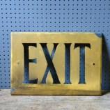 Vintage metal exit sign