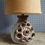 Shelf Pottery lamp with shade