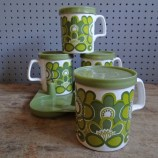Staffordshire Potteries mug set