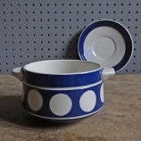 T G Green Domino soup bowl