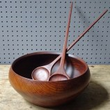 Vintage Galatix teak salad bowl and servers | H is for Home
