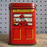 telephone box tin