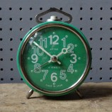 Green vintage Vityaz alarm clock | H is for Home