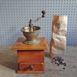 wood & metal coffee grinder