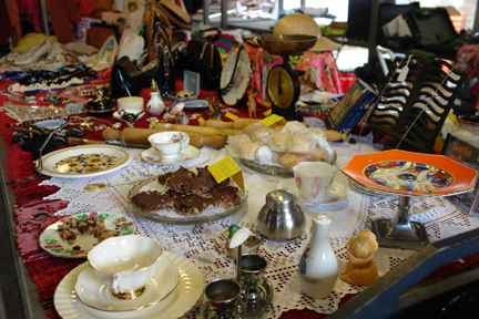 Free cakes with the bric-a-brac on Todmorden Outside Market