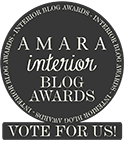 Amara Interior Blog Awards 'Vote for Us!' badge