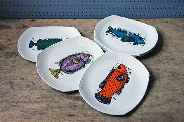 Collection of vintage Aquarius fish plates | H is for Home