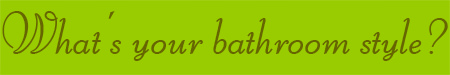 'What's your bathroom style?' blog post banner