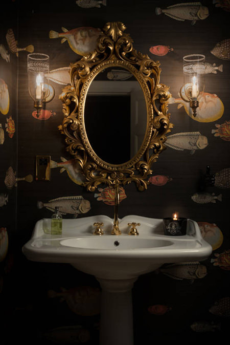 luxe glamour bathroom style