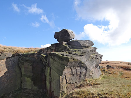 Cow's Mouth Quarry, near Blackstone Edge on the West Yorkshire/Greater Manchester border
