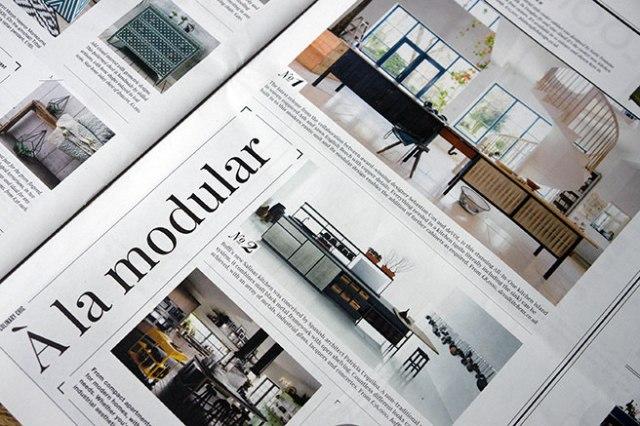'A la modular' article in Warehouse Home magazine