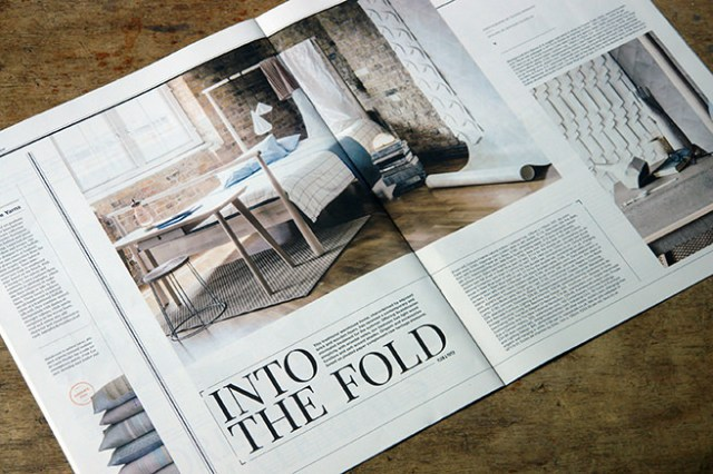 'Into the Fold' article in Warehouse Home magazine