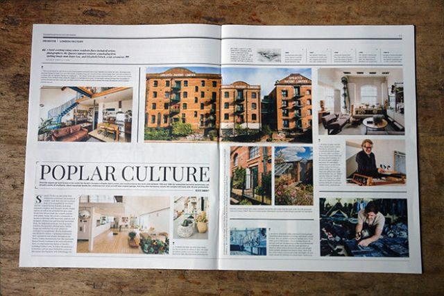'Poplar Culture' article in Warehouse Home magazine