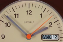vintage wall clock produced by Kienzle of Germany