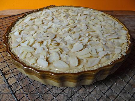 Uncooked Bakewell tart