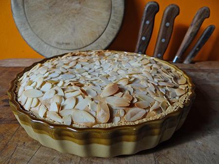 Home-made Bakewell tart