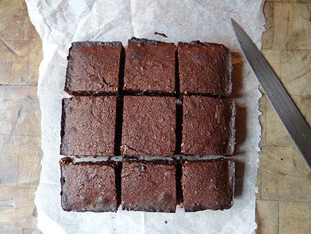sliced home-made coconut brownies | via @hisforhome #recipe #chocolate #brownies