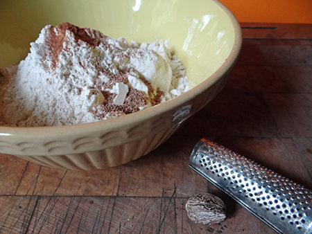 plain flour and ground spices