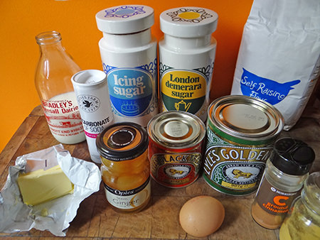 Sticky ginger loaf ingredients
