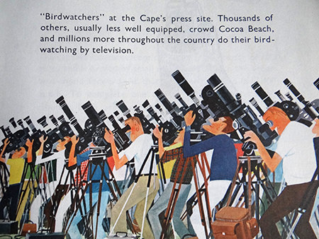 Cameramen illustration from a vintage 'This is Cape Canaveral' book