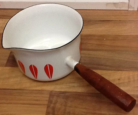 vintage Cathrineholm milk pan for sale on eBay for Charity by & in support of Midleton Elderly Aid
