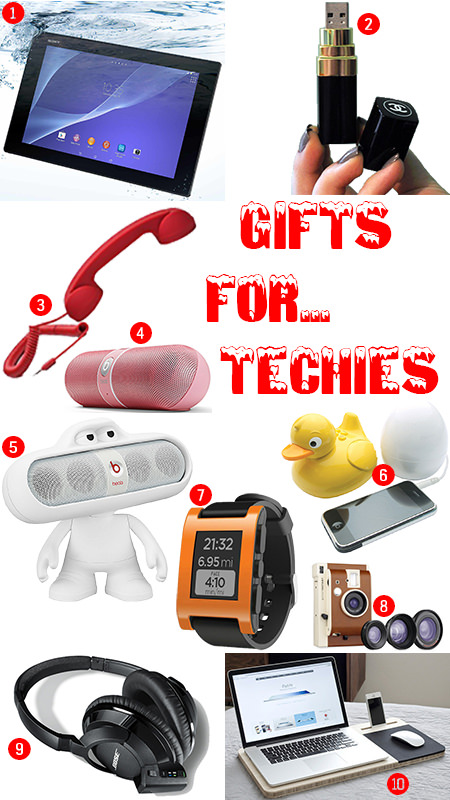 Selection of Christmas presents for techies