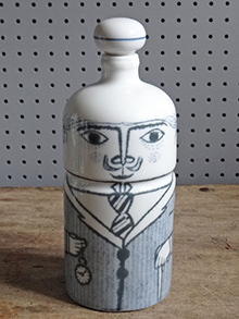 Vintage Altenstadt pottery city gent bottle