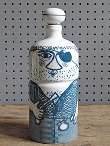 Vintage Altenstadt pottery pirate bottle