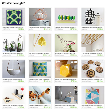 'What's the angle' Etsy List curated by H is for Home