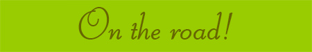 'On the road!' blog post banner