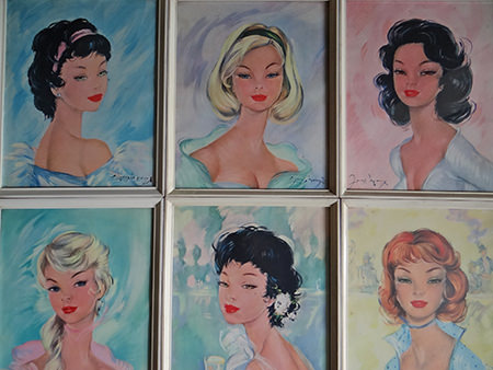 6 vintage prints of beautiful girls