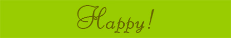 'Happy!' blog post banner